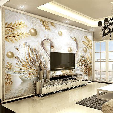 3d Wallpaper For Wall by Luxury Wallpaper Jewelry Swan Wall Mural Custom 3d