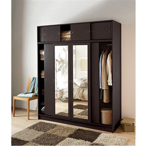 armoire chambre porte coulissante miroir armoire wenge