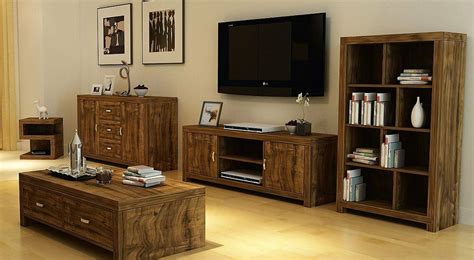 Tv Unit And Sideboard by Luxury Living Room Furniture Set Acacia Effect Coffee