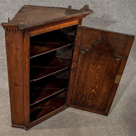 Corner Wall Cupboard by Antique Oak Corner Cabinet Wall Cupboard Quality