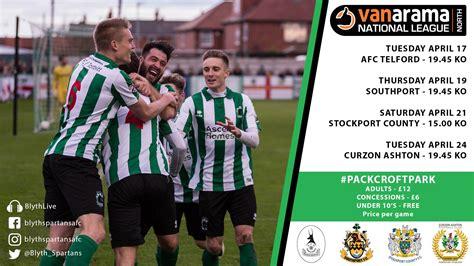 Match Preview | Blyth Spartans v Curzon Ashton | Blyth ...