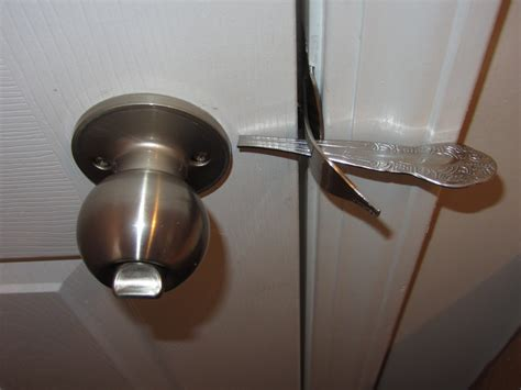 how to lock a door without a lock dinner fork door lock