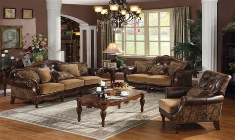 brown wood coffee table traditional leather living room set small living room ideas living