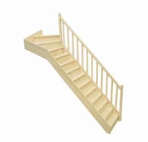 Escalier 1 4 Tournant Droit : escalier 1 4 tournant haut droit en sapin ~ Dallasstarsshop.com Idées de Décoration