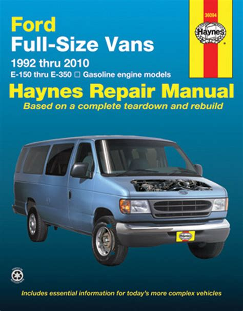 car repair manuals online pdf 2007 ford e150 parking system repair manual haynes 36094 fits 92 02 ford e 350 econoline club wagon ebay
