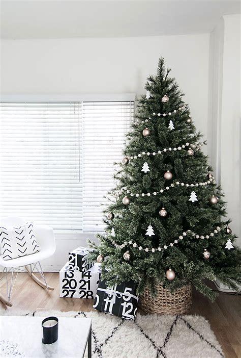 minimal scandinavian christmas tree homey