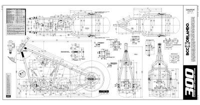 Custom Chopper Rigid Frame Plans Blueprints Choppers