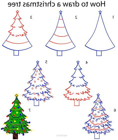 easy drawing christmas tree  getdrawingscom