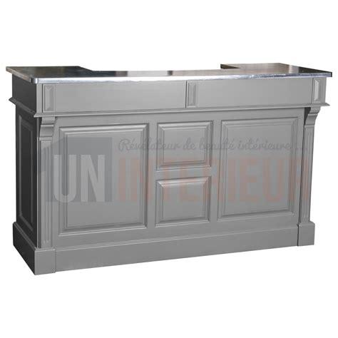 largeur comptoir bar meuble bar pin 180cm pin zinc