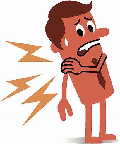 Pain Neck Shoulder Vector Clipart Cartoon Stiff