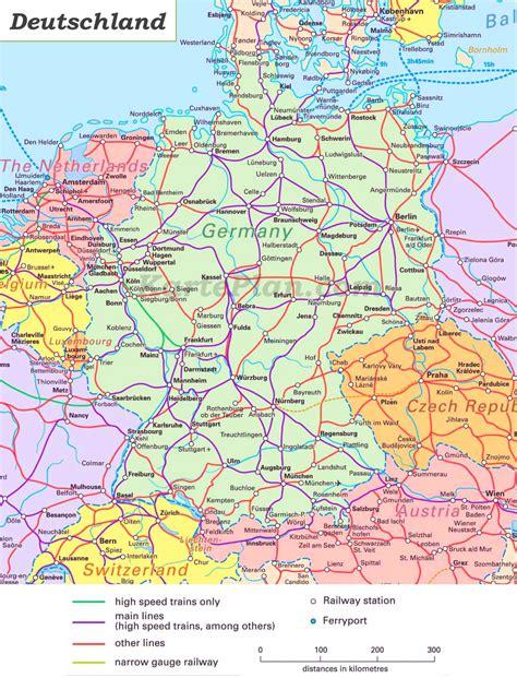schienennetz karte von deutschland