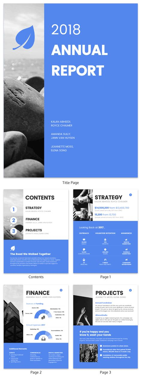 Annual Report Template 55 Customizable Annual Report Templates Exles Tips