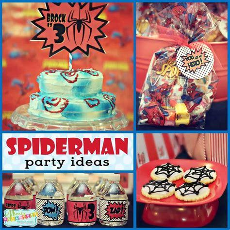 superhero party brocks vintage spiderman party mimis