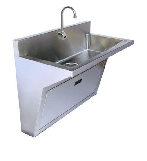 Stainless Steel Single Station Surgeons Wall Hung Scrub Sink