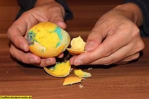 Regenbogen Kuchen im Ei Ostern Backen mit Kinder