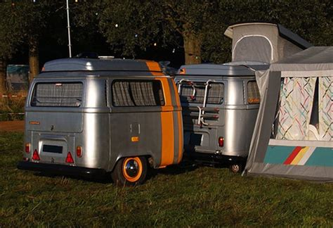 vw vans converted  original teardrop  micro campers tiny house pins