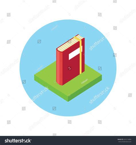 isometric book logo icon flat style stock vector