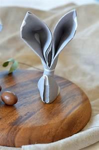 Pliage Serviette Lapin Simple : pliage de serviette en lapin pour p ques diy tangerine zest ~ Melissatoandfro.com Idées de Décoration