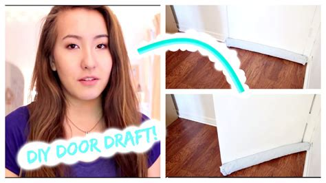 How To Make A Door Draft Stopper Diy One Sided Door Draft Stopper