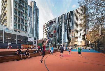 Urban Square Rmit Architizer Beckett