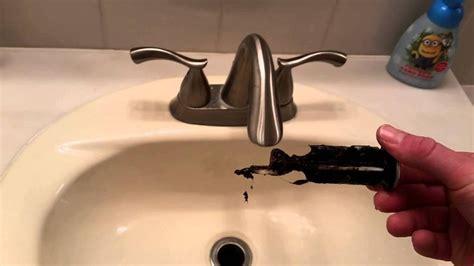 bathroom sink quick fix   remove  clean