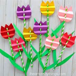 straw flowers pretty paper straw tulip craft i heart crafty things
