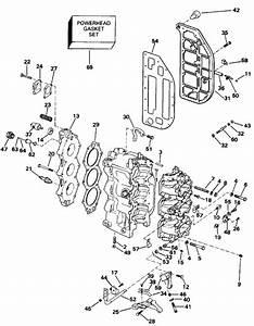 Johnson Cylinder  U0026 Crankcase Parts For 1992 60hp J60ttlene