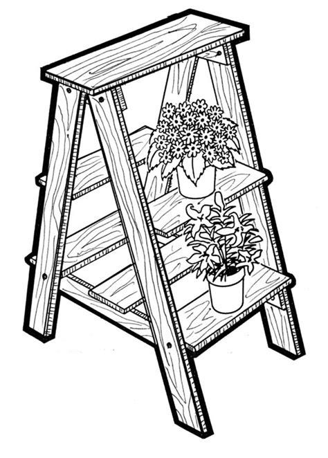atomic mall plant ladder  woodworking craft pattern