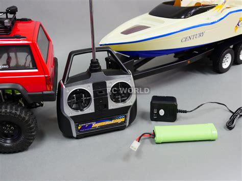 Rc Truck And Boat Trailer by Rc Truck 1 10 Sawback Jeep 4x4 Metal Boat