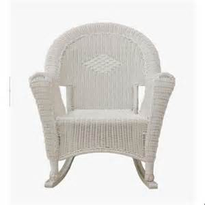 white resin wicker rocking chair patio furniture
