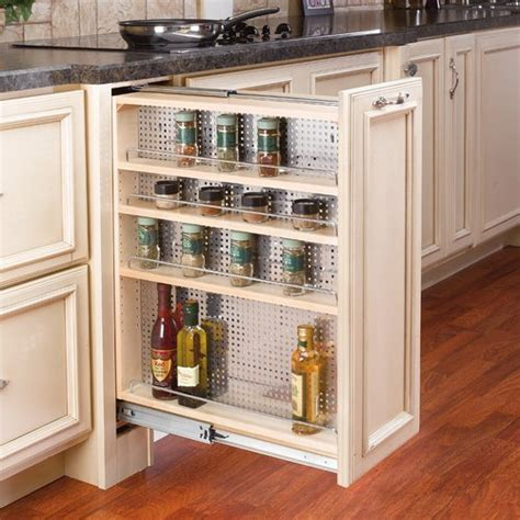 rv kitchen cabinet organizers rev a shelf 433 base filler organizer 9 quot wood 433 bf 9c 5033