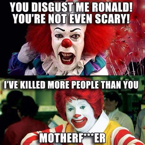 Funny Ronald Mcdonald Memes - instagram meme pennywise the clown from stephen king s it and ronald mcdonald clown humor