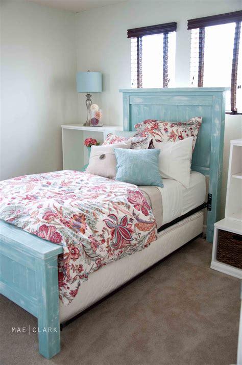 Ana White  Twin Farmhouse Bed  A Beachyish Version