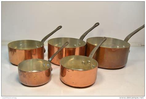 cuivre cuisine série batterie de casseroles en cuivre étamé