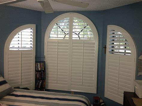 Arch Window Coverings by Curved Windows Can Be Covered With Custom Shutters To Fill
