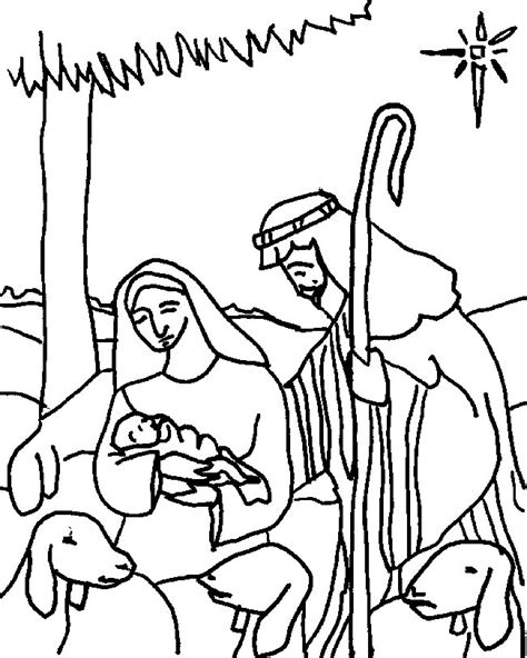 Kleurplaat Kerstkribbe by And Joseph Coloring Pages Az Coloring Pages