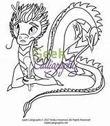 Spoon Coloring Dragon Getcolorings sketch template