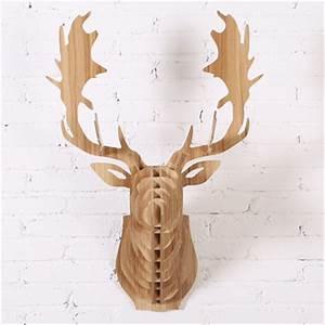 Animaux En Bois Décoration : 2015 nouvelle jach re t te de renne en bois bricolage maison de d coration murale canada ~ Teatrodelosmanantiales.com Idées de Décoration