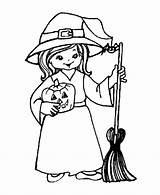Witch Coloring Pages Printable Pretty sketch template