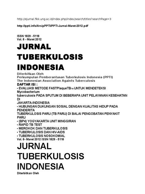 JURNAL TUBERKULOSIS PARU PDF DOWNLOAD