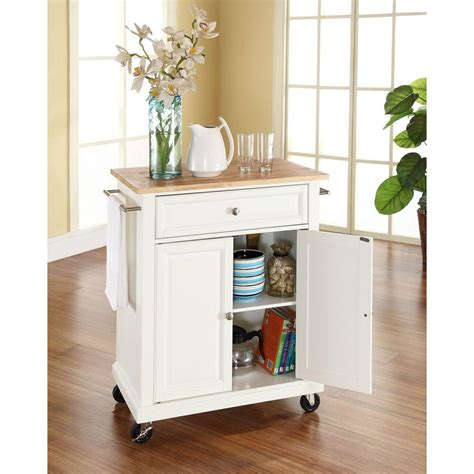 crosley kitchen islands crosley white kitchen cart with wood top 3030