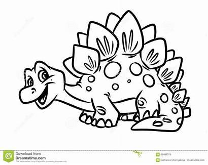 Dinosaur Stegosaurus Coloring Pages Funny Jurassic Clipart