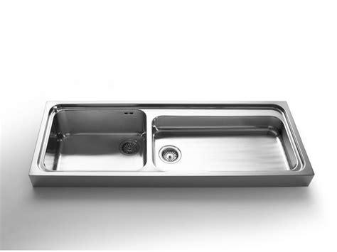 lavelli da appoggio cucina lavello a 2 vasche appoggio in acciaio inox in stile