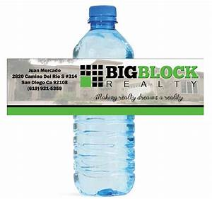 150 custom water bottle labels for your shop or business real With custom water bottle labels for business