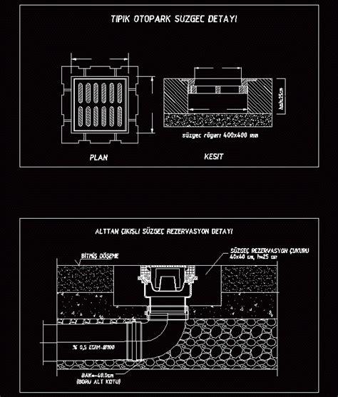 drain garage  dwg plan  autocad designs cad