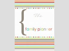 Family organizer printable, fillable PDF templates