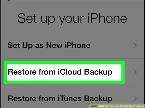 how to restore your iphone from icloud how to restore iphone from icloud with pictures wikihow