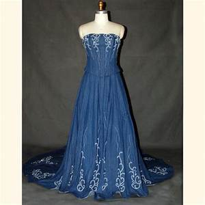 Denim wedding dresses wedding dresses pinterest for Western denim wedding dresses