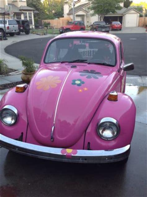 volkswagen beetle classic bug hippie chic pink