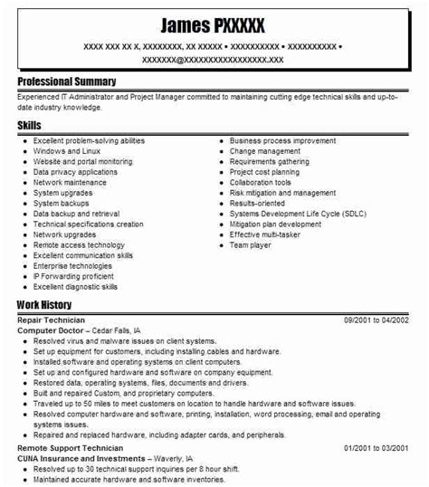 28 computer repair resume computer field service
